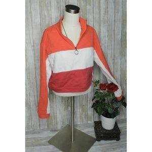 wild fable xs Quarter Zip Color Blocked Sweatshirt